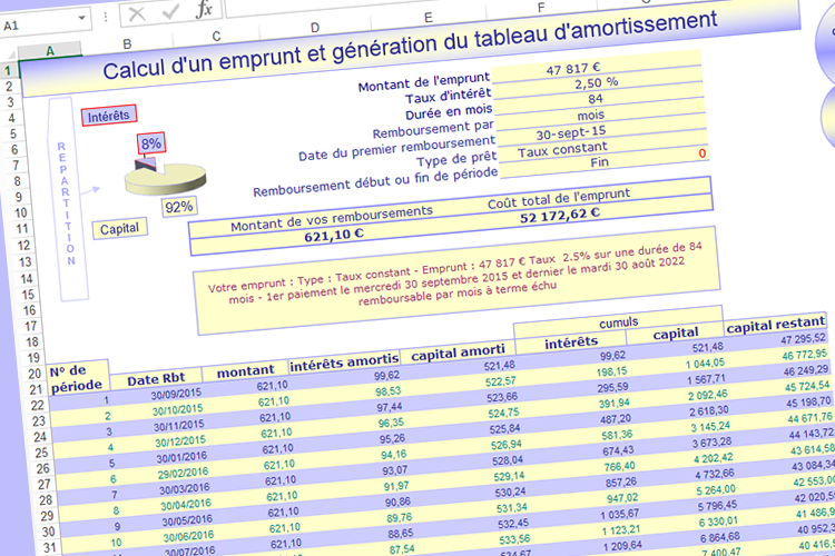 Kristal cr ation ou refonte site internet vitrine e - Tableau d emprunt excel ...